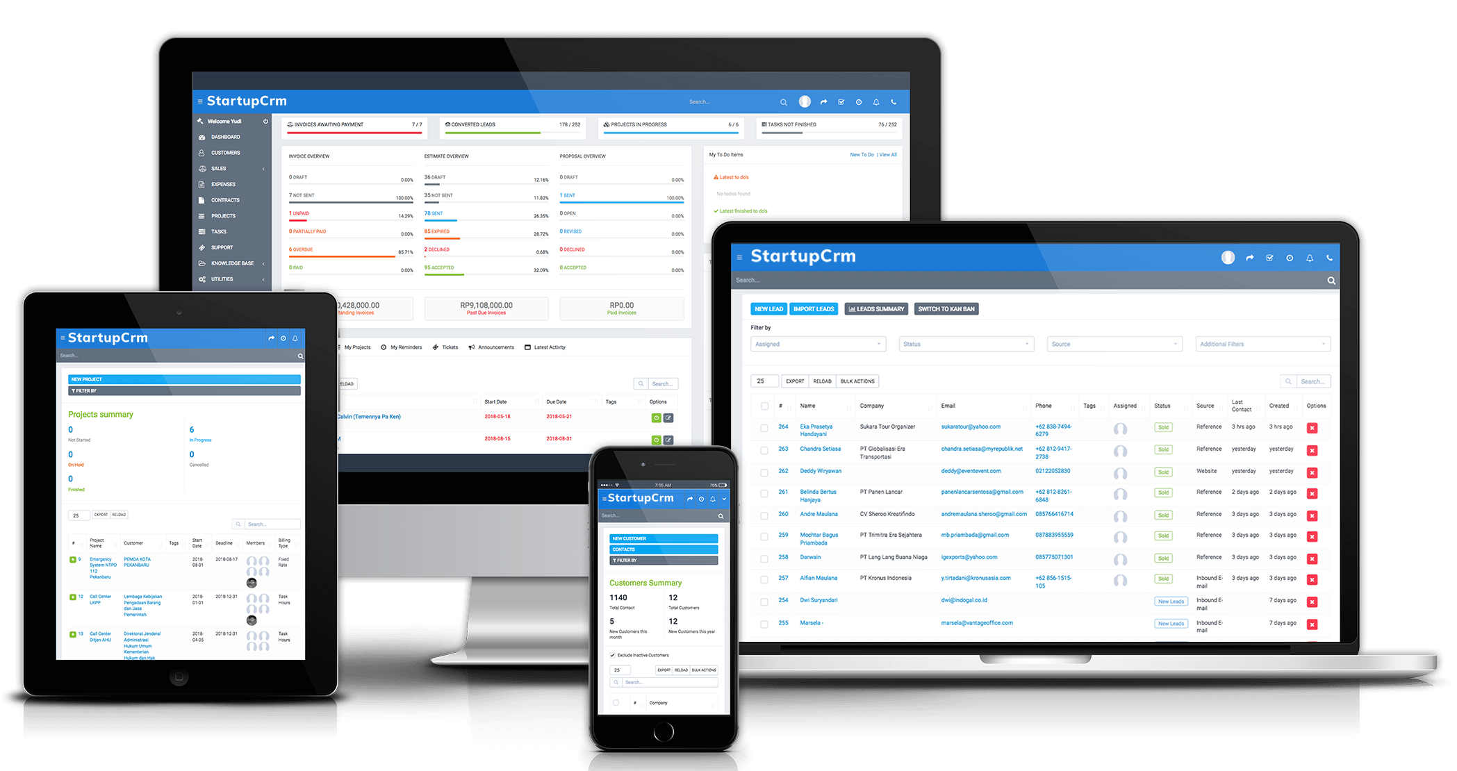 StartupCrm Responsive