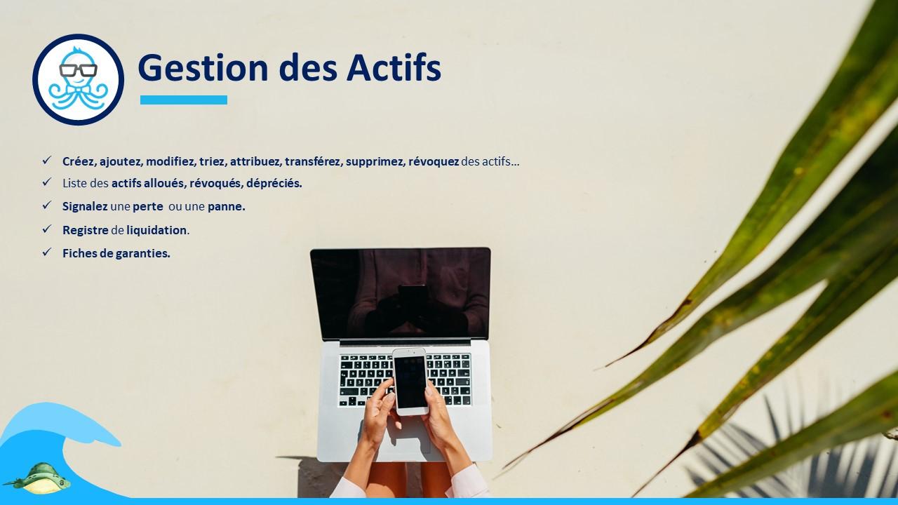 Gestion actifs StartupCrm