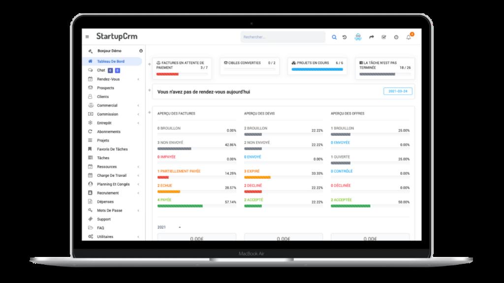 Startup CRM Dashboard